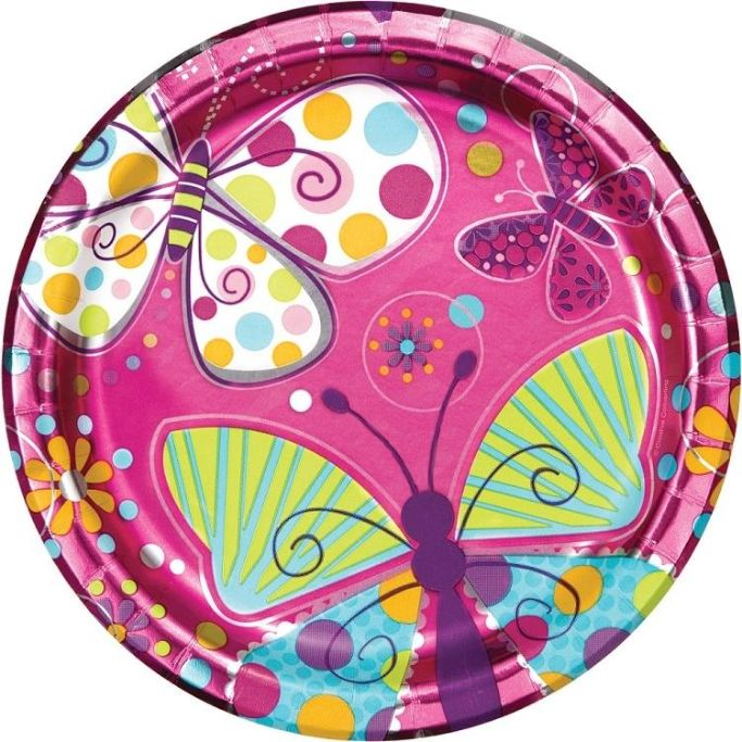 Butterfly Sparkle Party Plates