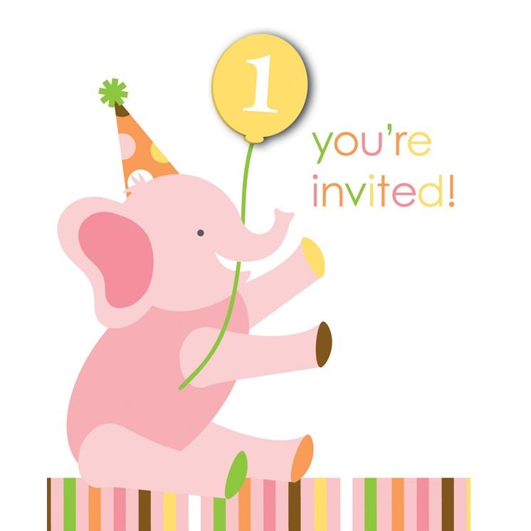 Sweet at One | 1st Birthday Girl Party Invitations | Invites