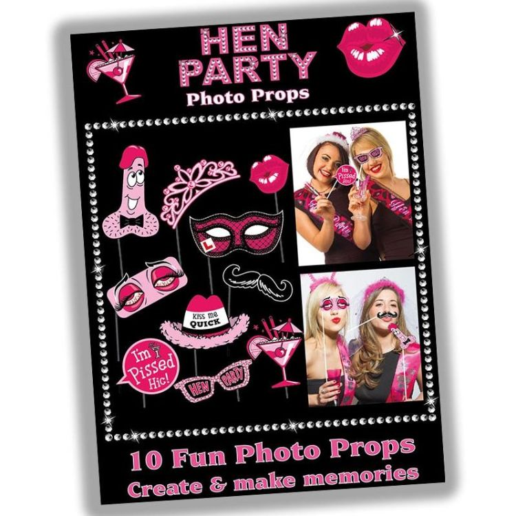 Hen Party Photo Booth Party Props