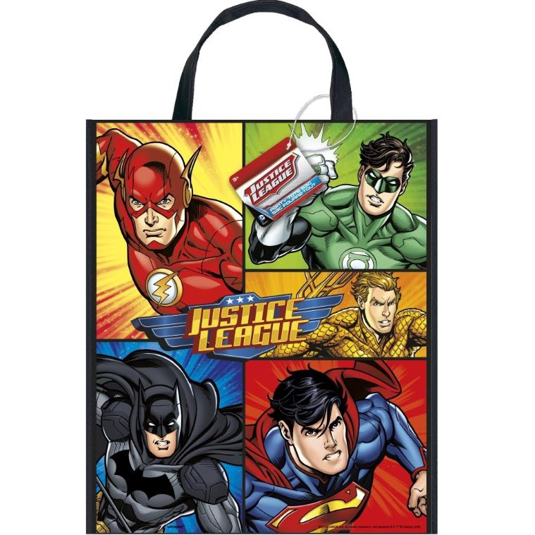 Justice League Party Tote Favour Bag