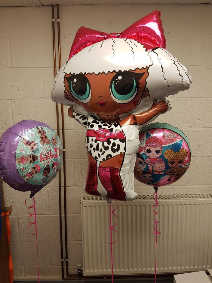 LOL Surprise Helium Inflated Foil Balloons, Coalville, Leicestershire by Party Save Smile. Specialists in Party Supplies for childrens, age milestones and more.