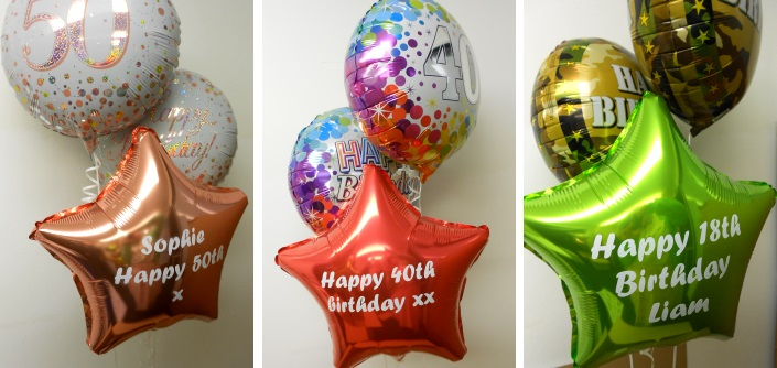 Personalised Foil balloon bouquets