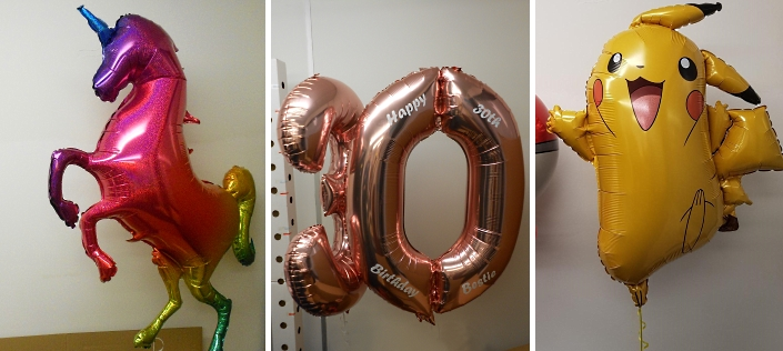 supershape large character and letter number balloons