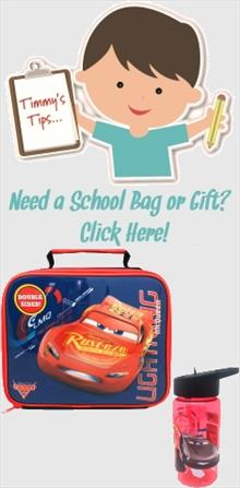 Disney Cars School Bags and Gifts