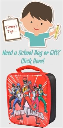 Power Rangers School Bags and Gifts
