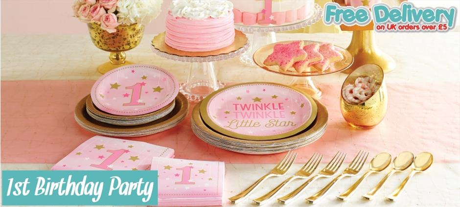 1st | First Birthday Party Supplies