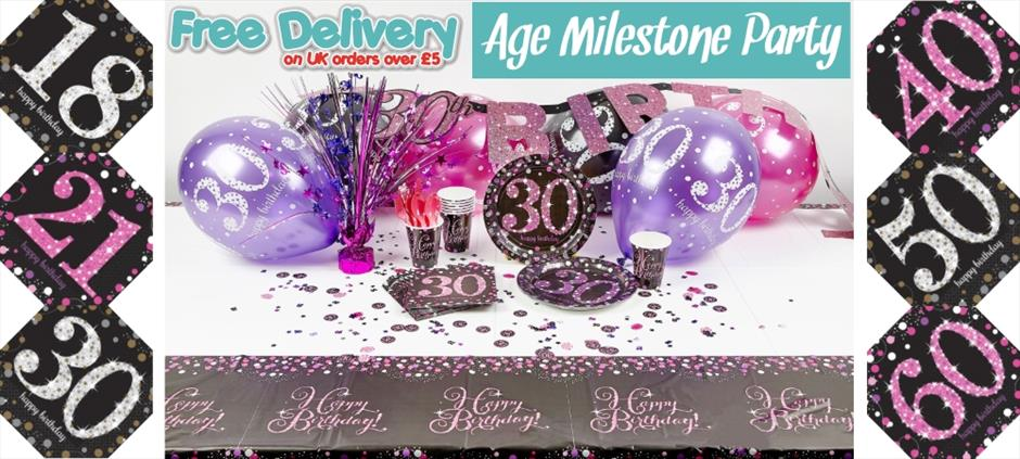 Age Milestone Party Supplies