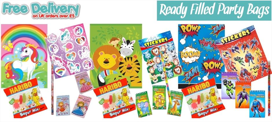 Pre-Filled | Ready Made | Childrens Party Bags