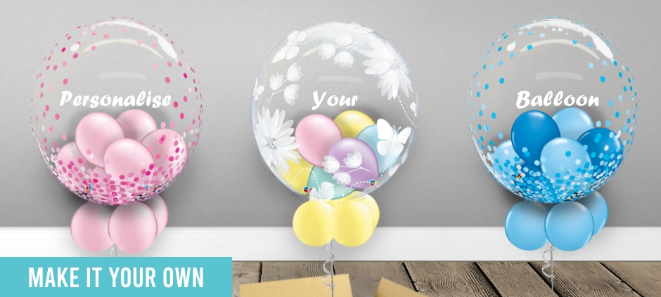 Personalised | Personalisable Clear Bubble Balloon Gifts