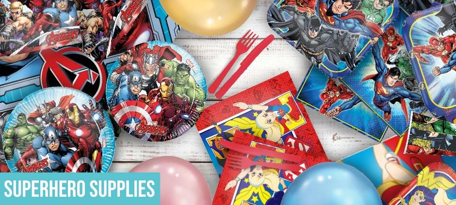 Superhero Party Tableware | Packs | Decorations | Banners