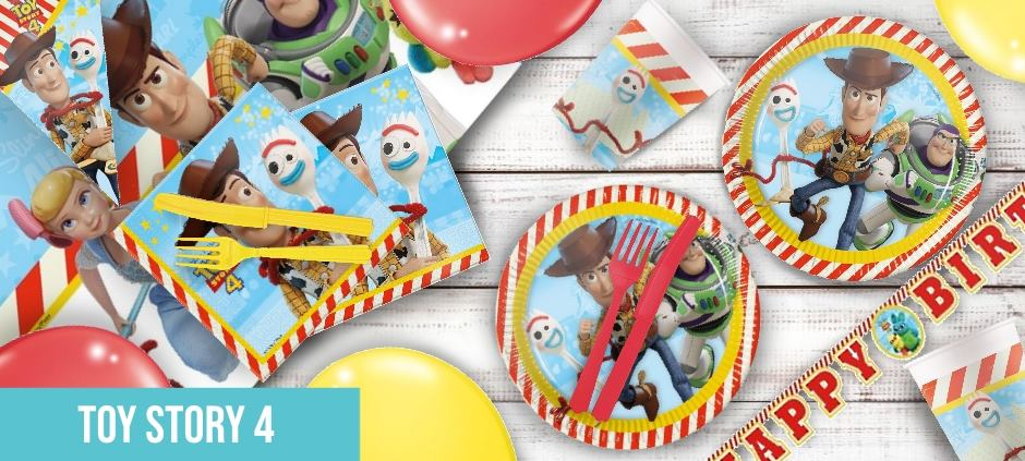 Toy Story 4 Party Supplies, Balloons and Decorations